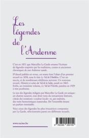 Les légendes de l'Ardenne - 4ème de couverture - Format classique