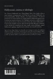 Hollywood ; cinéma et idéologie - 4ème de couverture - Format classique