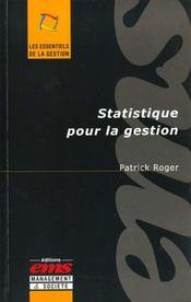 Statistique pour la gestion
