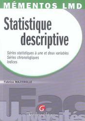 Statistique descriptive