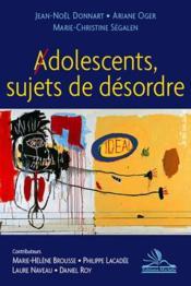 Adolescents, sujets de désordre - Couverture - Format classique