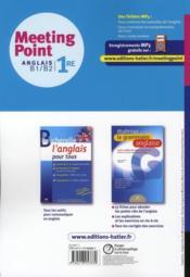 Anglais ; 1ère toutes séries ; manuel de l'élève (édition 2011) - 4ème de couverture - Format classique