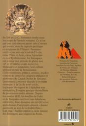 Les Etrusques ; la fin d'un mystère - 4ème de couverture - Format classique
