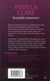 Scandale meurtrier - 4ème de couverture - Format classique