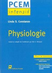 Physiologie Pcem Intensif Pour Le Concours Cours Complet Et Concis 500 Questions Reponses