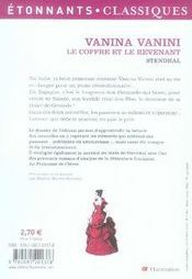 livre vanina vanini le coffre et le revenant stendhal acheter occasion 06 12 2006