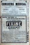 Presse - Concours Medical (Le) N°24 du 14/06/1908