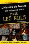 Livres - L'histoire de France des origines à 1789 pour les nuls