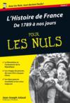 Livres - L'histoire de France de 1789 à nos jours pour les nuls