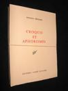 Livres - Croquis et aphorismes