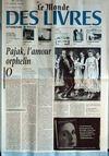 Presse - Monde Des Livres (Le) du 03/11/2000