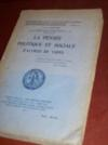 Livres - La pensée politique et sociale d'Alfred de Vigny.