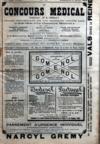 Presse - Concours Medical (Le) N°15 du 12/04/1908
