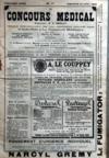 Presse - Concours Medical (Le) N°17 du 26/04/1908