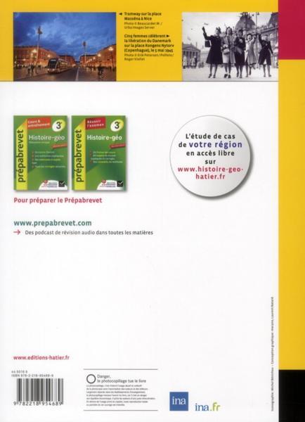 livre histoire g ographie 3 me manuel de l 39 l ve dition 2012 ivernel m villemagne b. Black Bedroom Furniture Sets. Home Design Ideas