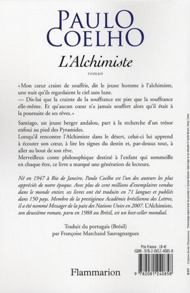 Resume de l alchimiste