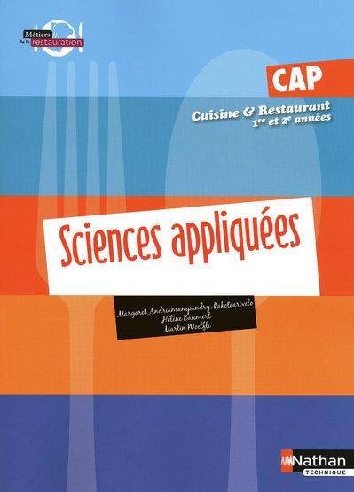 Cap cuisine et restaurant 1 re et 2 me ann e sciences - Referentiel cap cuisine ...