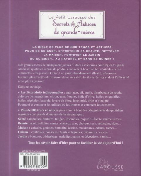 Livre le petit larousse des secrets et astuces de grands for Petit larousse de la cuisine