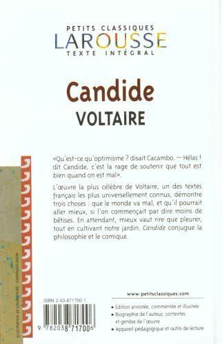 candide by voltaire 2 essay 1) what is the relationship between candide's adventures and pangloss's teachings in candide, we see lives filled with struggles and tragedy.