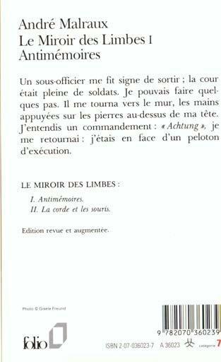 Livre le miroir des limbes t 1 antim moires andr for Miroir des limbes