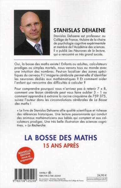 livre la bosse des maths 10 ans apr s stanislas dehaene. Black Bedroom Furniture Sets. Home Design Ideas