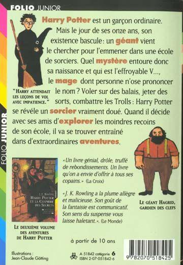 Harry Potter T.1 ; Harry Potter à Lu0027école Des Sorciers  Harry Potter Resume
