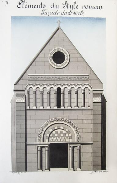 Livre architecture romane lot de 7 beaux lavis for Architecture romane definition
