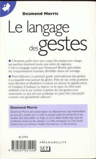 livre le langage des gestes desmond morris acheter occasion 03 11 1999. Black Bedroom Furniture Sets. Home Design Ideas