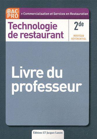 livre technologie de restaurant 2nde bac pro livre du professeur cardinale