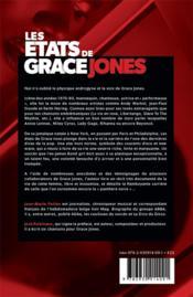 Les états de Grace Jones - 4ème de couverture - Format classique