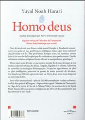 Homo deus ; une brève histoire de l'avenir - 4ème de couverture - Format classique