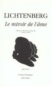Le miroir de l ame georg christoph lichtenberg acheter for Le miroir de l ame