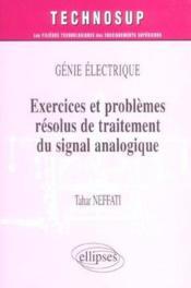 Genie Electrique Exercices Et Problemes Resolus De Traitement Du Signal Analogique