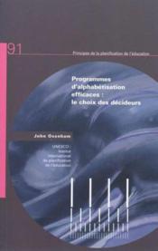 Programmes d'alphabétisation efficaces : le choix des décideurs - Couverture - Format classique