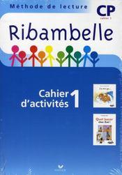 Méthode de lecture ; CP ; série bleue ; cahier d'activités et livret d'entraînement t.1