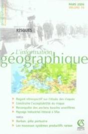 L'Information Geographique N.70 ; Risques - Couverture - Format classique