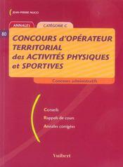 Concours D'Operateur Territorial Des Activites Physiques Et Sportives