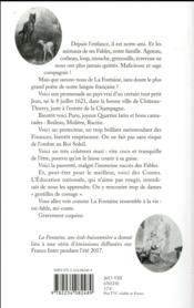 La Fontaine ; une école buissonnière - 4ème de couverture - Format classique