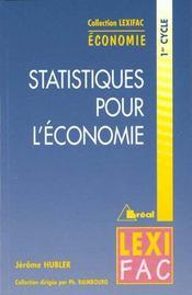 Statistiques appliquees a l'economie