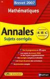 Livres - Mathématiques ; brevet 2007