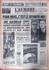 Presse - Aurore (L') N°5420 du 06/02/1962