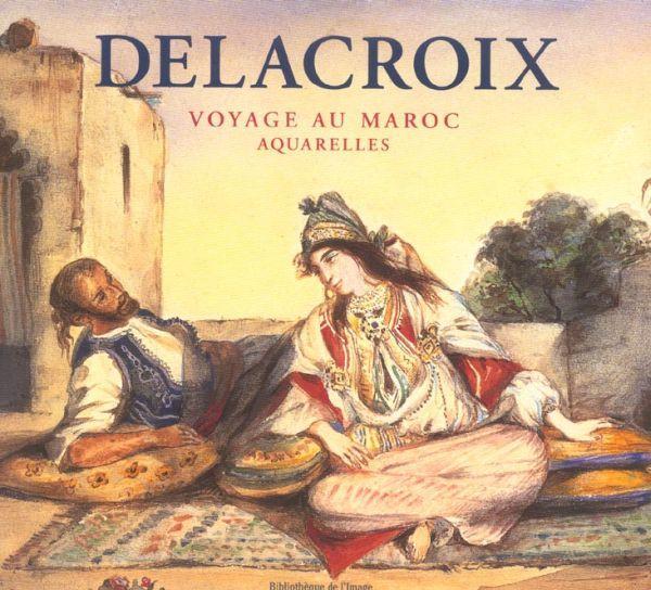 livre delacroix voyage au maroc aquarelles alain daguerre de hureaux. Black Bedroom Furniture Sets. Home Design Ideas
