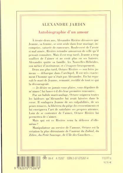 Livre autobiographie d 39 un amour alexandre jardin for Autobiographie d un amour alexandre jardin