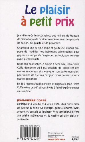 Livre le plaisir a petit prix jean pierre coffe - Plaisir a petit prix ...