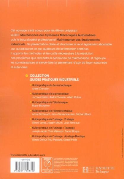 livre - maintenance des equipements industriels bac pro - livre eleve - ed 2006