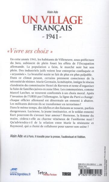Livre un village fran ais 1941 alain ade - Acheter un village francais ...