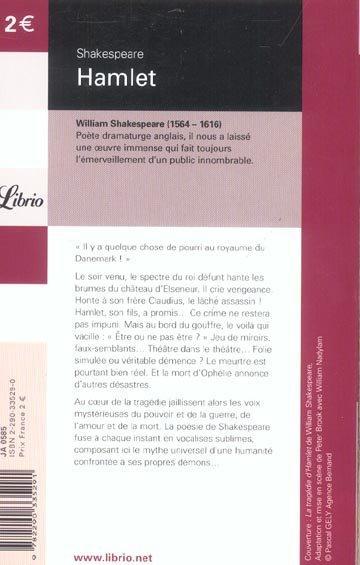 livre hamlet william shakespeare