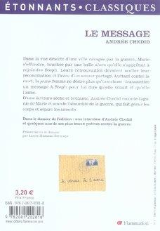 Le message andree chedid resume