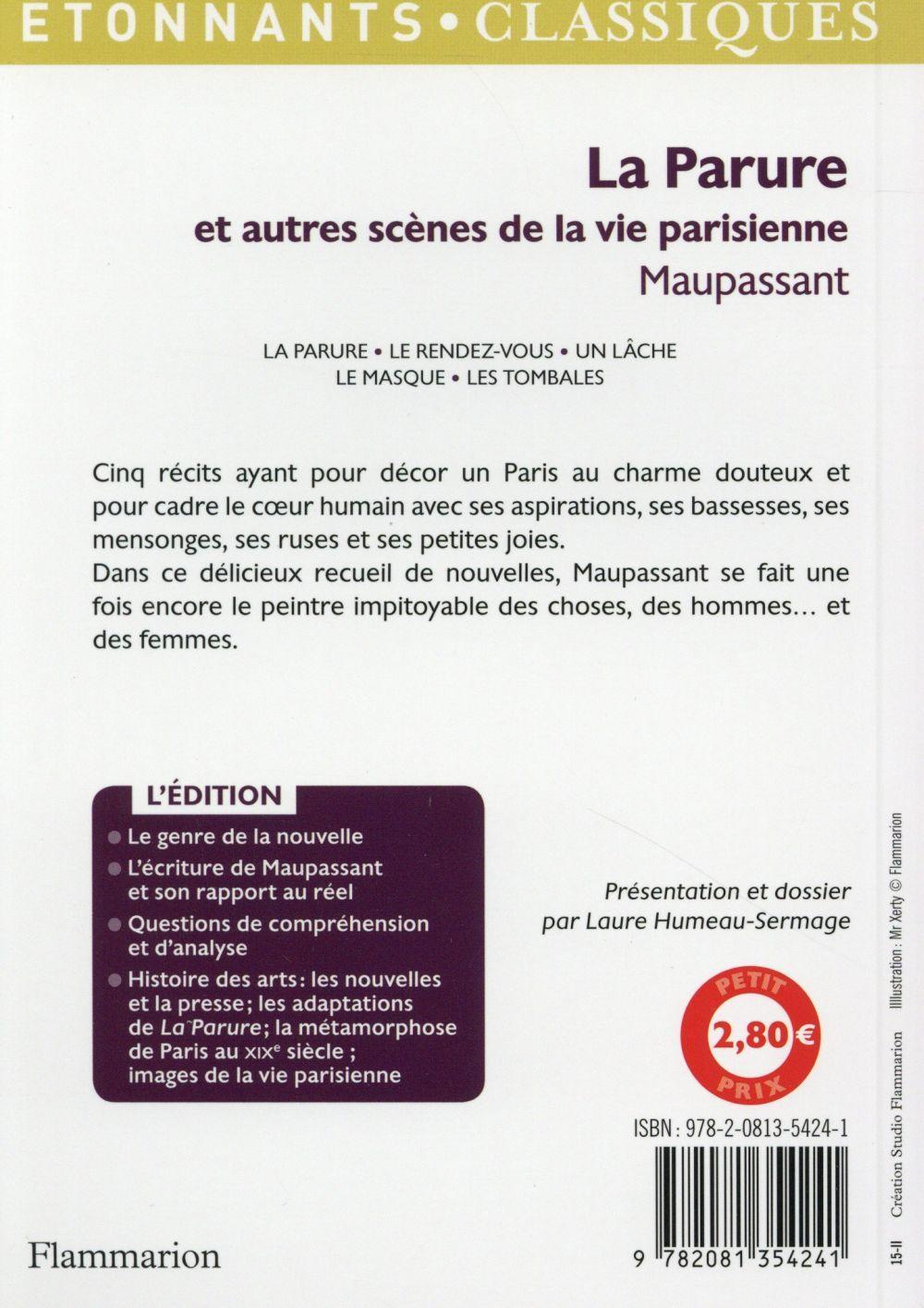livre la parure et autres sc 232 nes de la vie parisienne