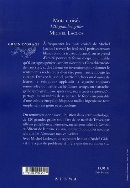 Livre mots croises 120 grandes grilles michel laclos - Grille mots croises michel laclos gratuites ...